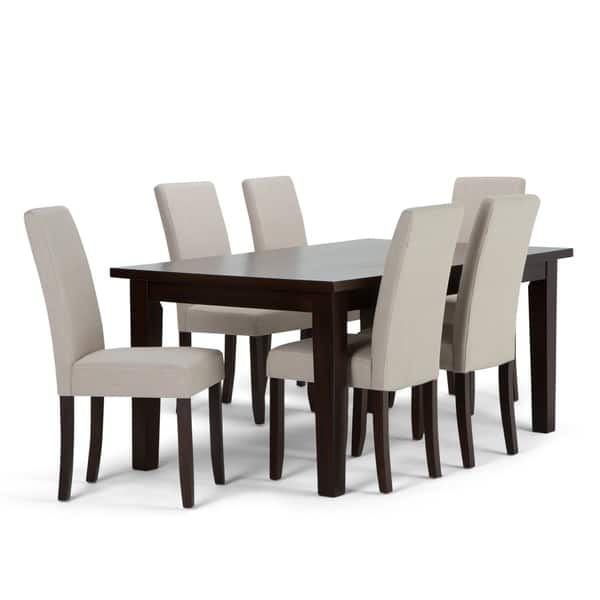 Terrific Shop Wyndenhall Normandy Contemporary 7 Pc Dining Set With 6 Squirreltailoven Fun Painted Chair Ideas Images Squirreltailovenorg