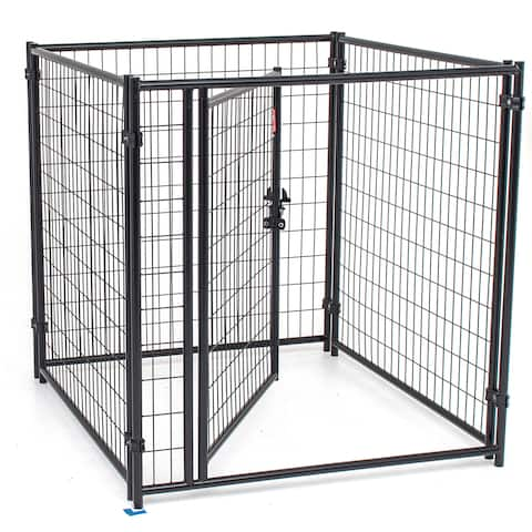 Lucky Dog 4-foot Modular Welded Steel Wire Dog Kennel Kit