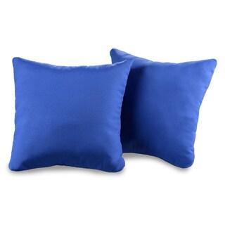 Poolside Solid Waverly Decorative Indoor/Outdoor Throw Pillow (Set of 2)