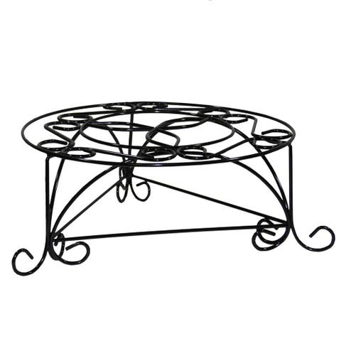 6.25-inch Mosaic Cast Metal Plant Stand