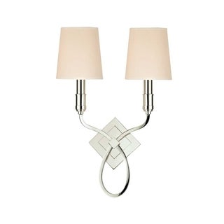 Hudson Valley Westbury 2-light Wall Sconce, White Shade