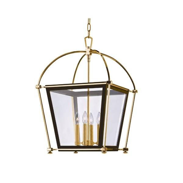 Hudson Valley Lighting Barrington: Shop Hudson Valley Hollis 4-light Brass Large Pendant