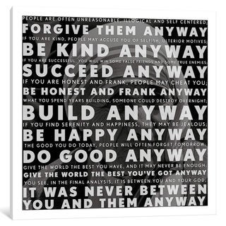 iCanvas Mother Teresa Quote by iCanvas Canvas Print