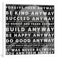 iCanvas Mother Teresa Quote by iCanvas Canvas Print