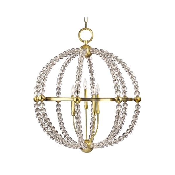 Hudson Valley Danville 5-light Brass Chandelier - Gold