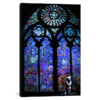 iCanvas Stained Glass Window II by Banksy Canvas Print