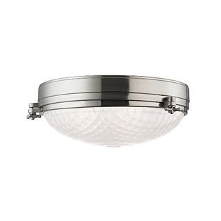 Clearance Hudson Valley Belmont 3 Light Satin Nickel Flush Mount