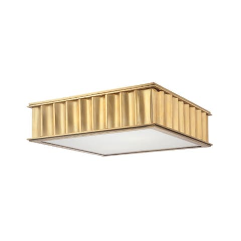 Hudson Valley Middlebury 2-light Aged Brass Flush Mount