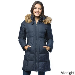Larry Levine Women's Long Down-Filled Hooded Coat