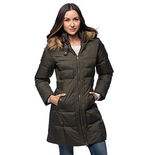 Womens Knee Length Down Coat