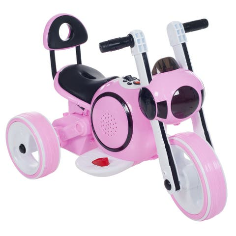 Rockin Rollers Pink 3-wheel Battery Powered Ride-on Mini Motorcycle with LED Lights