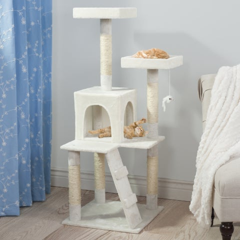 PETMAKER Penthouse 4-foot Sleep and Play Cat Tree