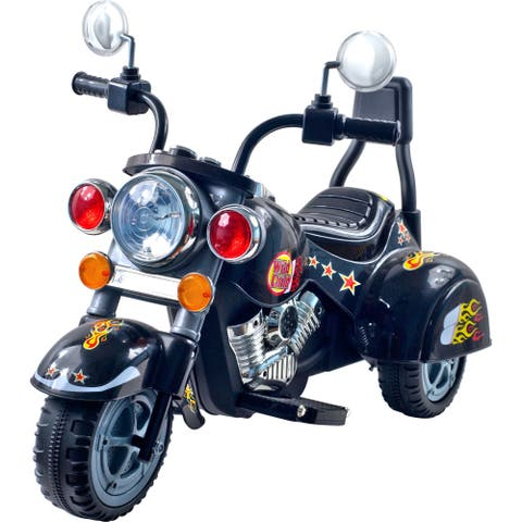 3 Wheel Chopper Motorcycle, Ride on Toy for Kids by Rockin' Rollers - Battery Powered Ride on Toys for Boys & Girls - Black