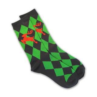 TeeHee Women's Diamond/ Reindeer Holiday Crew Socks