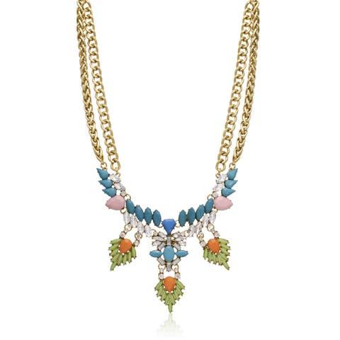 Passiana Turquoise Wreath Bib Necklace - Green