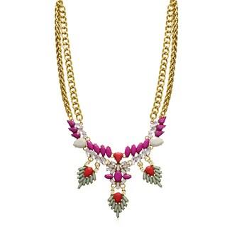 Passiana Magenta Wreath Bib Necklace