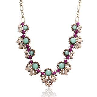 Passiana Purple and Turquoise Bronzed Necklace