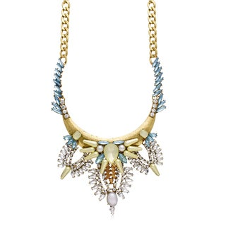 Passiana Pearl and Crystal Gretian Bib Necklace