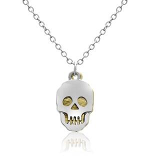 Adoriana Two Tone Skull Necklace, 16 Inches