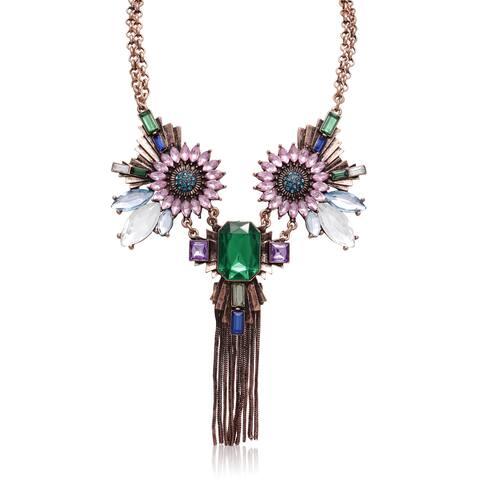 Passiana Green, Blue and Purple Fantasy Necklace