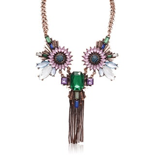 Adoriana Emerald, Aqua and Amethyst Fantasy Necklace