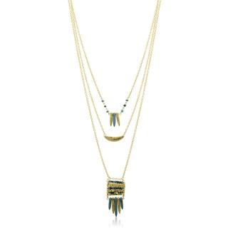 Adoriana Three Strand Turquoise Tribal Necklace