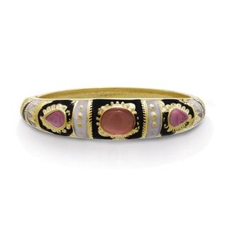 Adoriana Japanese Inspired Enamel Bracelet In Gold Overlay, 7 Inches