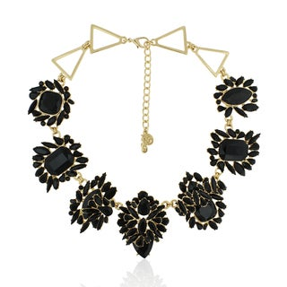 Adoriana Black Onyx Flower Burst Necklace