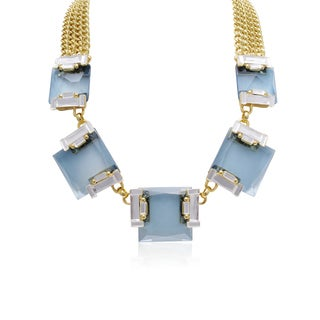 Adoriana Aquamarine and Crystal Radiant Necklace
