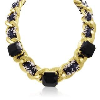 Adoriana Black Onyx Fringe Necklace