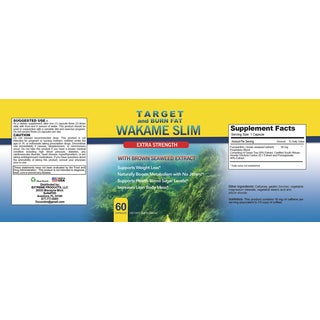 Wakame Slim with Fucoxanthin Maximum Strength Extract (60 Capsules)
