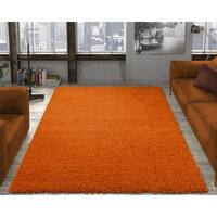 "Ottomanson Shaggy Collection Solid Color Shag Area Rug - 7'10"" x 9'10"""