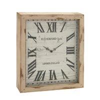 Oliver & James Buri Distressed Wall Clock