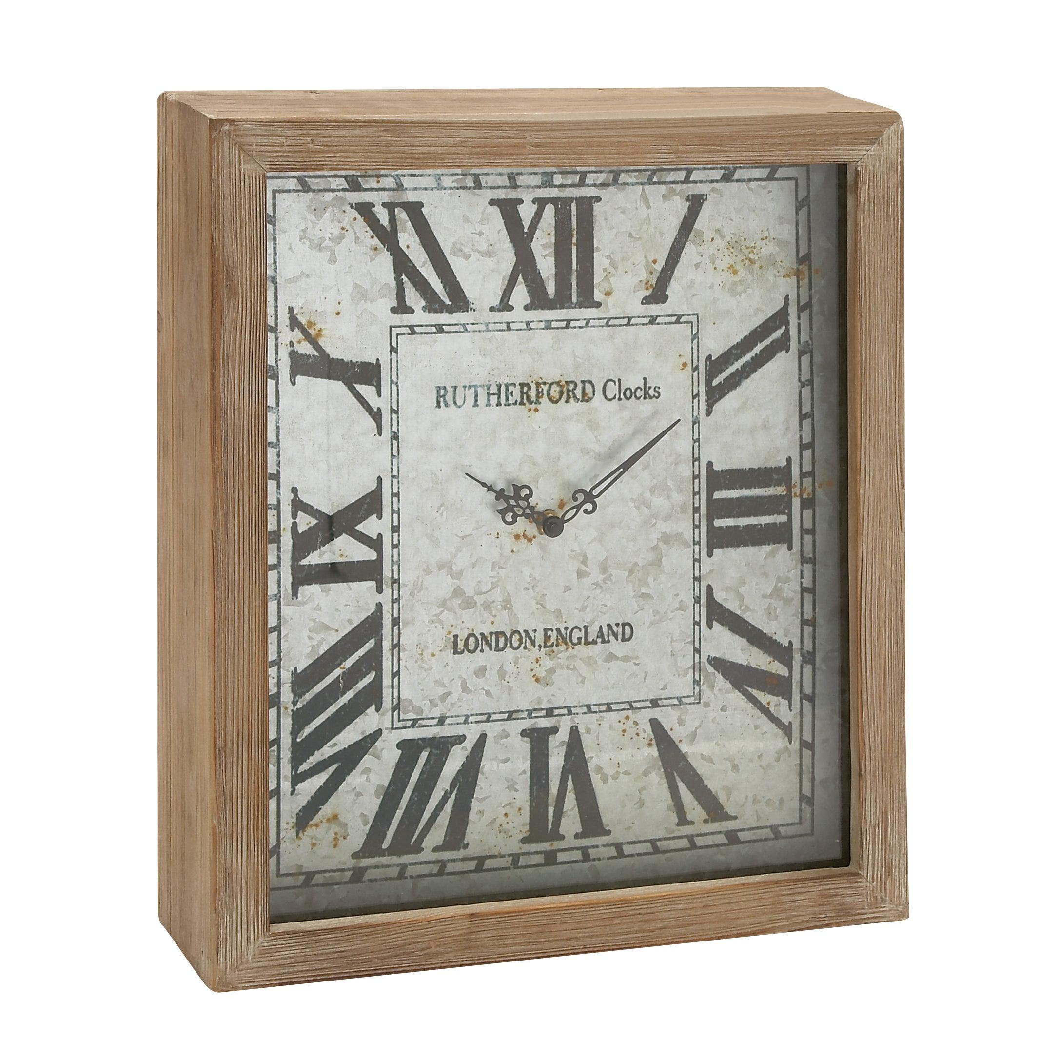 Raw Oak Wall Clock