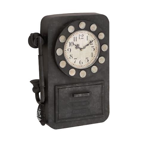Carbon Loft Petri Rotary Phone Wall Clock