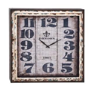 Squared Rustic Wall Clock