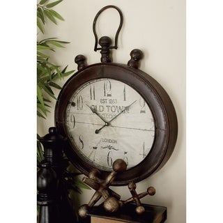 Traditional 21 Inch Stopwatch-Style Wall Clock by Studio 350