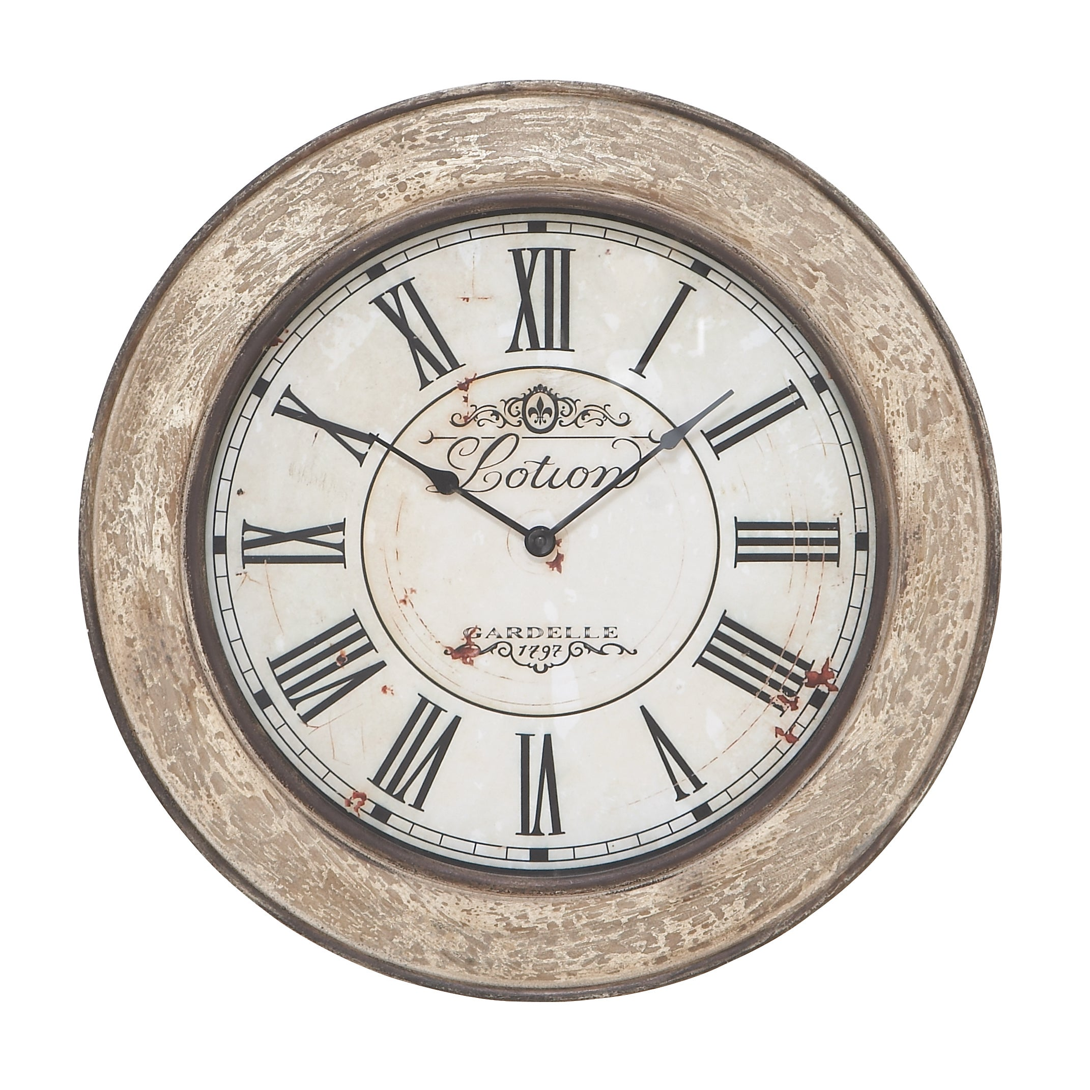 Studio 350 24-inch Vintage French Wall Clock, Tan (Iron)