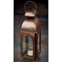 "10"" Antique Bronze Finish Candle Lantern"