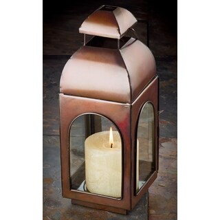 "13"" Antique Bronze Finish Candle Lantern"