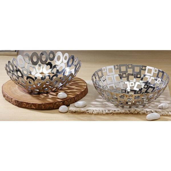 Set of Steel Welded Squares & Ovals Baskets