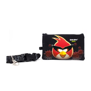 Angry Birds Space Lanyard with Detachable Coin Pouch (Option: Black)