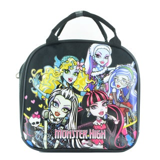 Monster High Insulated Lunch Bag with Adjustable Shoulder Strap, Water Bottle