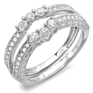 Elora 14K White Gold 0.60 ct TDW Diamond Band or Wedding Ring Enhancer Guard (H-I, I1-I2)