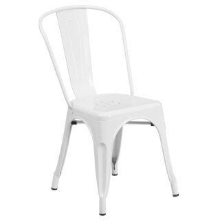 Porch & Den Stonehurst Blenheim Industrial Stackable Metal Side Chair