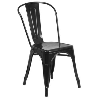 Industrial Stackable Metal Side Chair