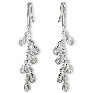 Avanti 14K White Gold 1/10ct Diamond Cascade Dangle Earrings(G-H, SI2-SI3)