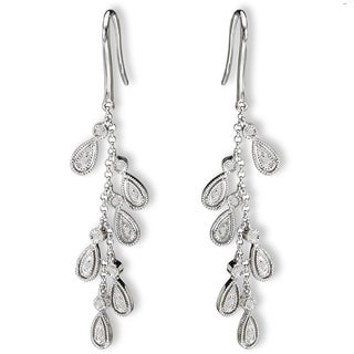 14K White Gold 1/10ct Diamond Cascade Dangle Earrings(G-H, SI2-SI3)