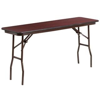 Flash Furniture 60-inch Rectangular Walnut Melamine Laminate Folding Training Table