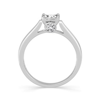 10k White Gold 1/2ct TDW Diamond Solitaire Ring